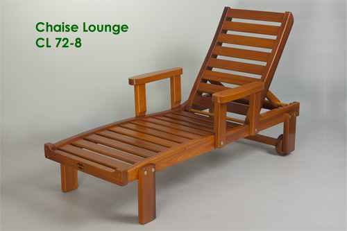 Chaise lounge reclining chair classic cedar for Chaise western
