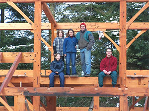 Timber Frame House At Classic Cedar Garden Furniture And