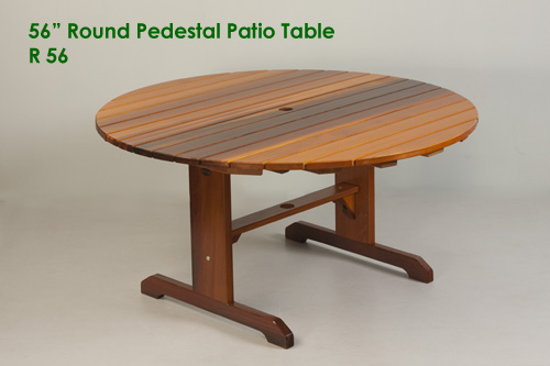 round cedar patio table plans